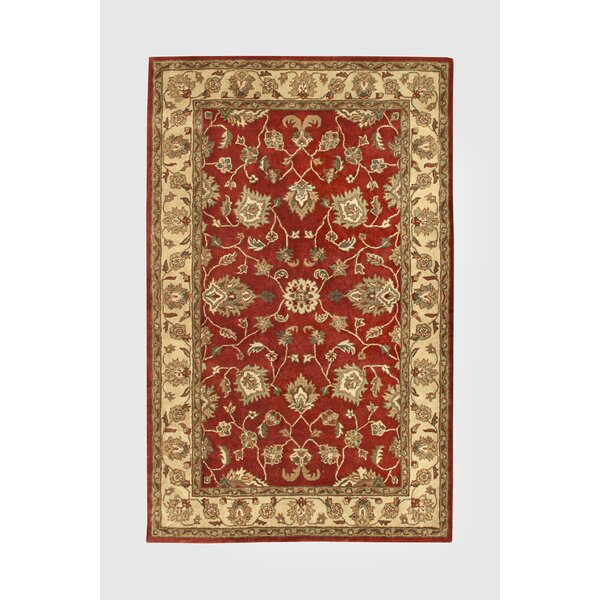 Vintage Red/Gold Rug by Noble House