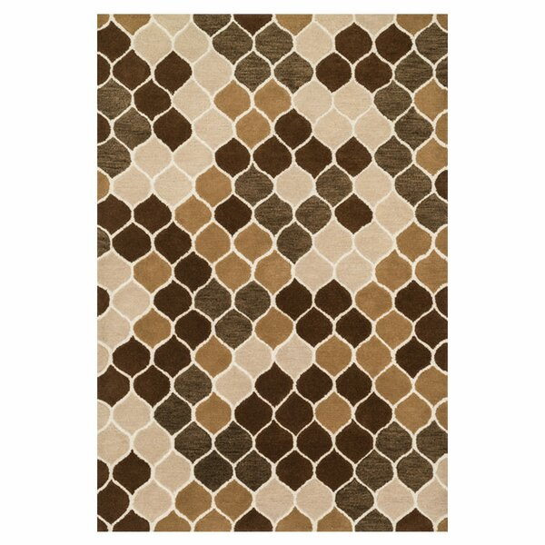 Maziarz Hand-Tufted Beige/Brown Area Rug by Ivy Bronx