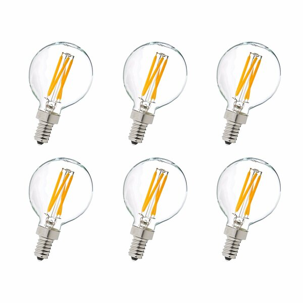 4W E12/Candelabra LED Vintage Filament Light Bulb (Set of 6) by Elegant Lighting