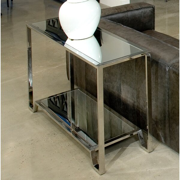 East End Stainless Steel Coffee Table by Sarreid Ltd