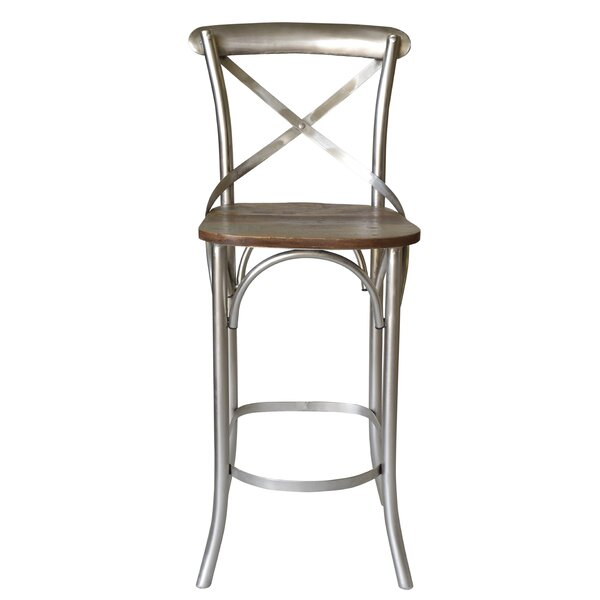 Minerva Cross 31 Bar Stool (Set of 2) by Gracie Oaks