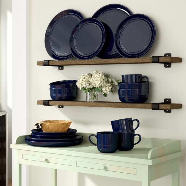 Bartlet Double Line 16 Piece Dinnerware Set, Service for 4 by Gracie Oaks