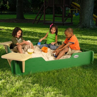 Sandlock Sandboxes Square Sandbox with Cover Size: 5' x 5'