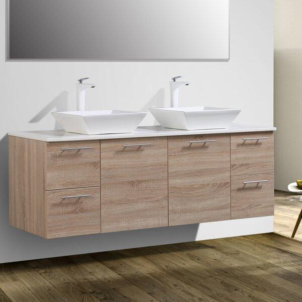 Orrville 60 Wall-Mounted Double Bathroom Vanity Set by Orren Ellis