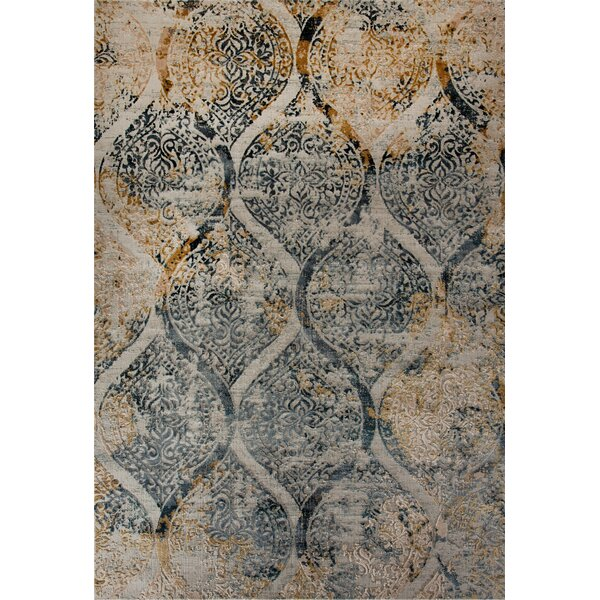 Lehigh Blue/Gold/Beige Area Rug by Bloomsbury Market