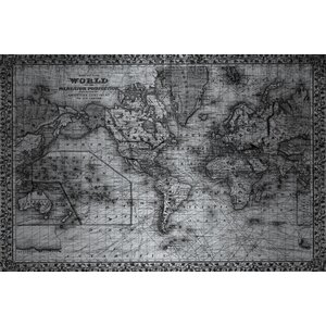 'Mercator' by Parvez Taj Painting Print on Brushed Aluminum by Parvez Taj