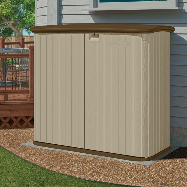 4 ft. 8 in. W x 2 ft. 8 in. D Plastic Horizontal Garbage Shed by Suncast