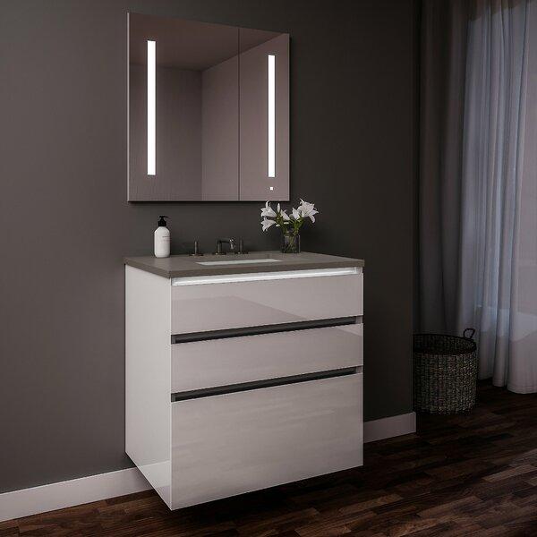 Curated Cartesian 30 Single Bathroom Vanity Set with Mirror