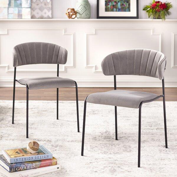 Caistor Tufted Velvet Upholstered Side Chair (Set Of 2) By Wrought Studio