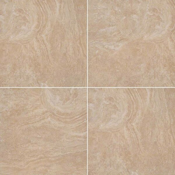 Calypso 20 x 20 Ceramic Field Tile in Beige by MSI