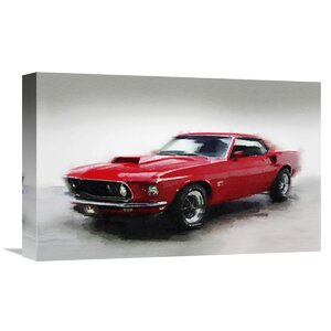 '1969 Ford Mustang' Graphic Art on Wrapped Canvas by Naxart