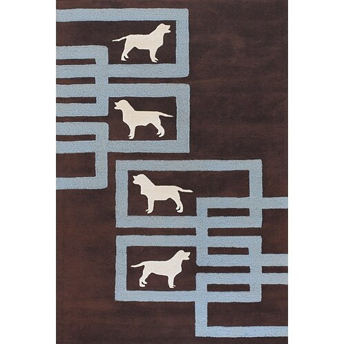 Valencia Brown/Blue Area Rug by East Urban Home