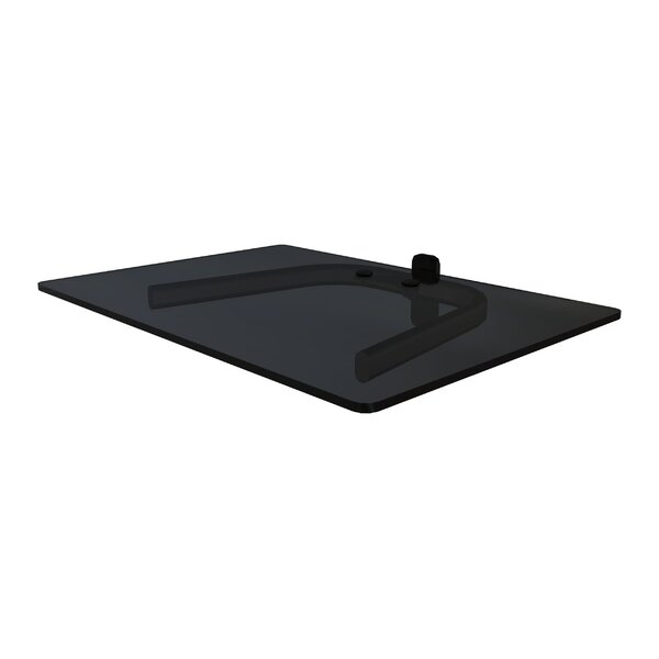 Single Shelf Wall Mount for TV Components by Crimson AV
