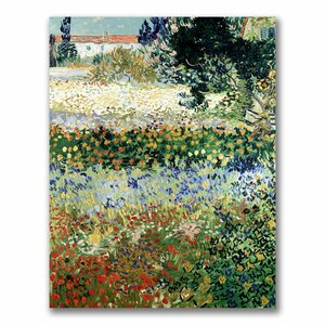 Garden in Bloom by Vincent Van Gogh Painting Print on Canvas by Trademark Fine Art