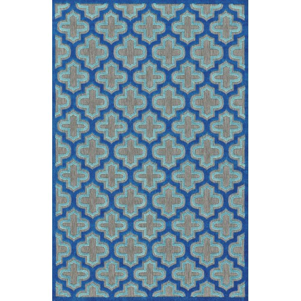 Harlow Blue Indoor/Outdoor Area Rug by Threadbind