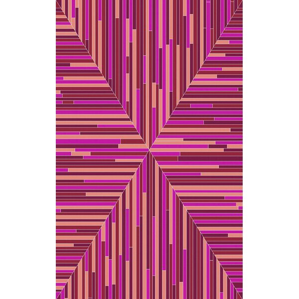 Denver Hand-Woven Cherry/Pink Area Rug by Ivy Bronx