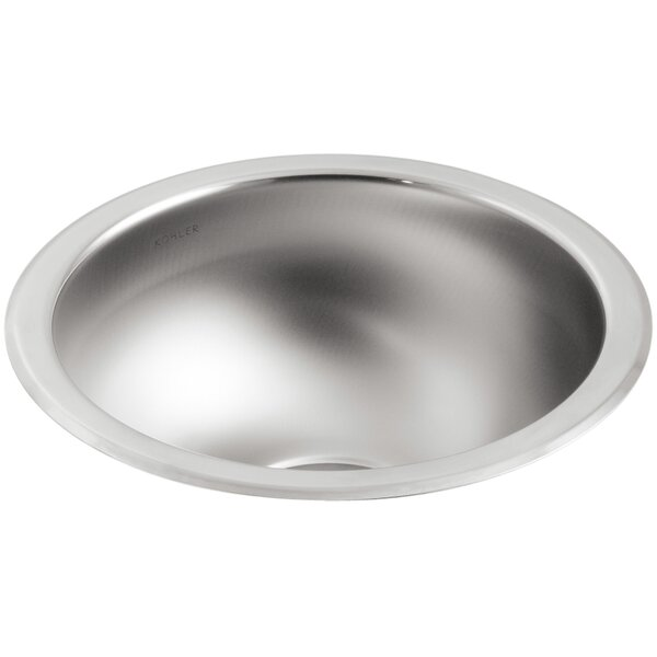Undertone 13-5/8 Diameter x 5-1/2 Under-Mount Single Circular Bowl Kitchen Sink by Kohler