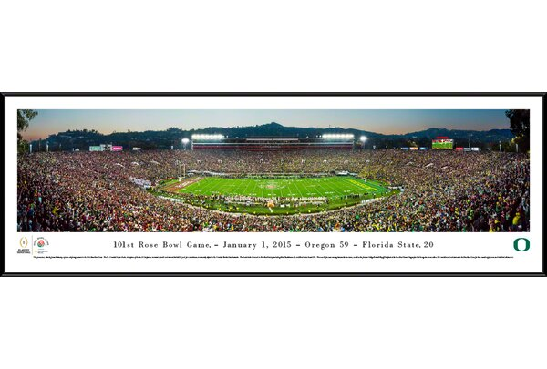NCAA Rose Bowl 2015 by James Blakeway Framed Photographic Print by Blakeway Worldwide Panoramas, Inc