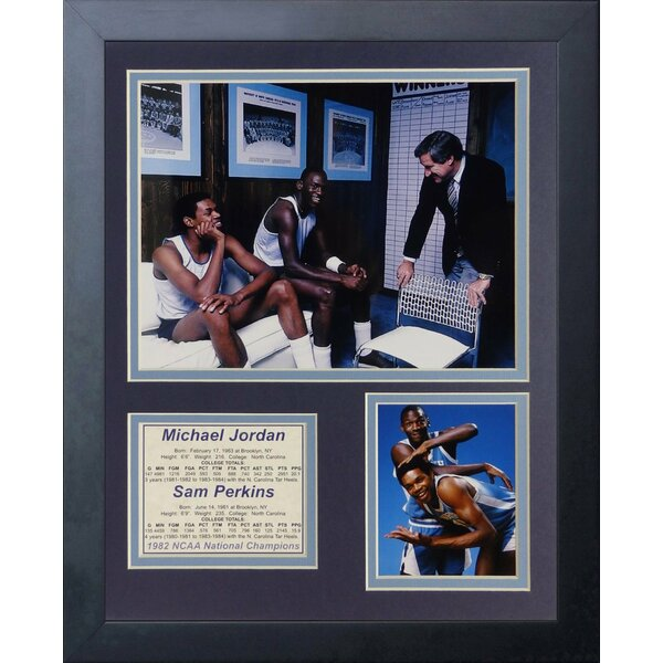 Michael Jordan & Sam Perkins - North Carolina Framed Memorabilia by Legends Never Die