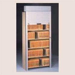 Tambour Door Open Filing Unit for Imperial Filing Cabinet by Tennsco Corp.