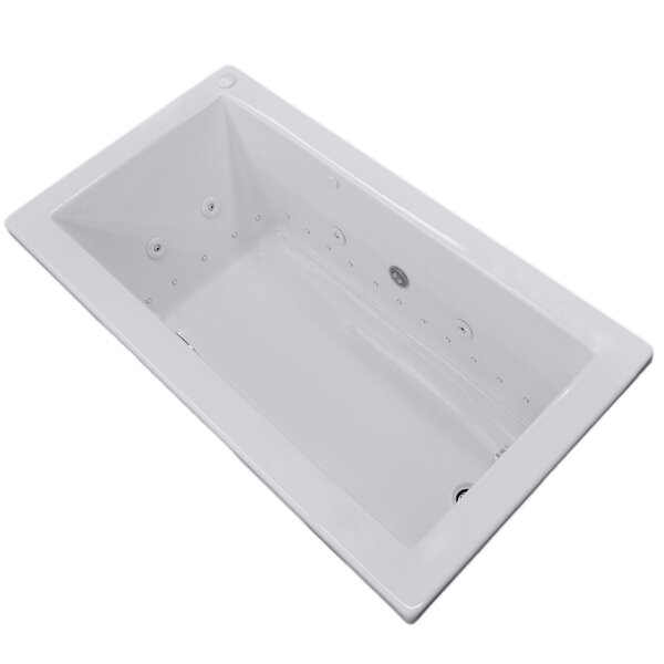 Guadalupe Dream Suite 59.74 x 41.5 Rectangular Air & Whirlpool Jetted Bathtub by Spa Escapes