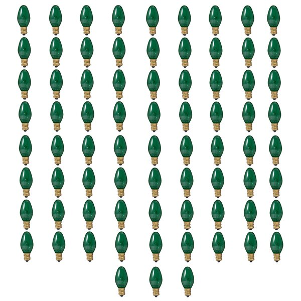 5W E12 Dimmable Incandescent Candle Light Bulb Green (Set of 75) by Bulbrite Industries