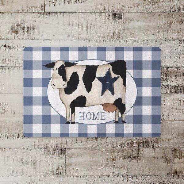 Teena Primitive Cow Kitchen Mat