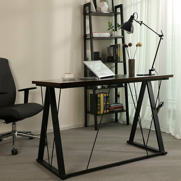 Evenson Home Office Study Workstation Desk by Rebrilliant