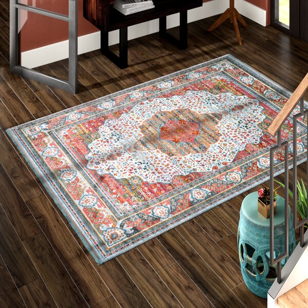 Lonerock European Orange/Pink Area Rug by Bungalow Rose