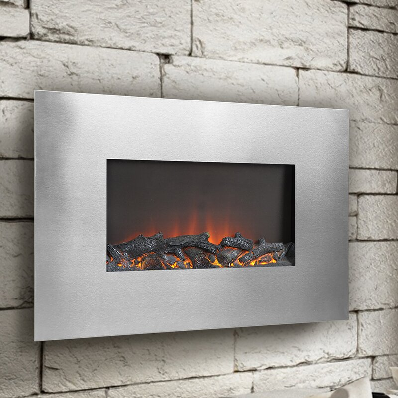 flamelux wall mount electric fireplace
