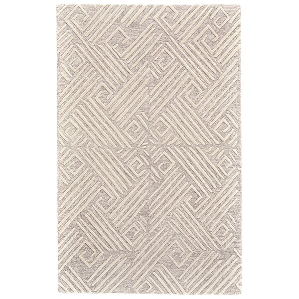 Grider Hand-Tufted Wool Ivory/Natural Area Rug by Bungalow Rose