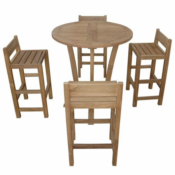 Descanso Sedona 5 Piece Teak Dining Set with Sunbrella Cushions by Anderson Teak