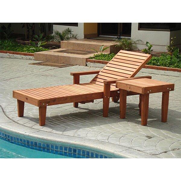 Thibeault Wood Chaise Lounge