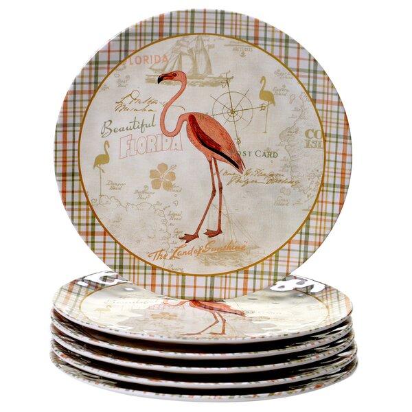 Mallie 11 Heavy Weight Melamine Dinner Plate (Set of 6) by Bayou Breeze