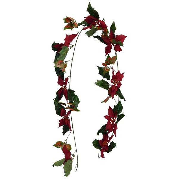 Poinsettia Garland (Set of 2) by The Holiday Aisle