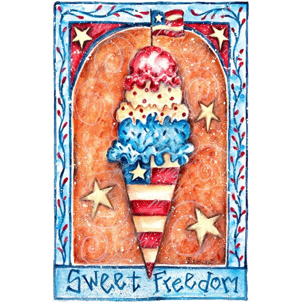 Sweet Freedom Garden Flag by The Cranford Group