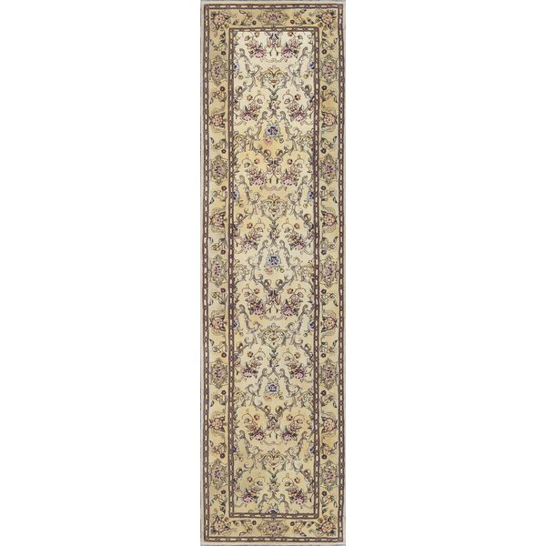 One-of-a-Kind Tabriz Hand-Knotted Wool Ivory Indoor Area Rug by Bokara Rug Co., Inc.