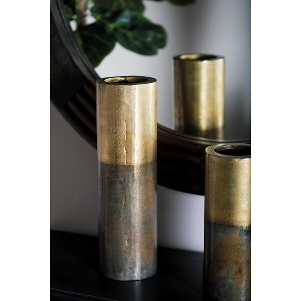 Mattera Rustic Aluminum Flower Table Vase by Wrought Studio