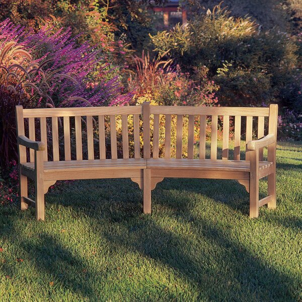 Dunloy Curved Wooden Garden Bench by Canora Grey