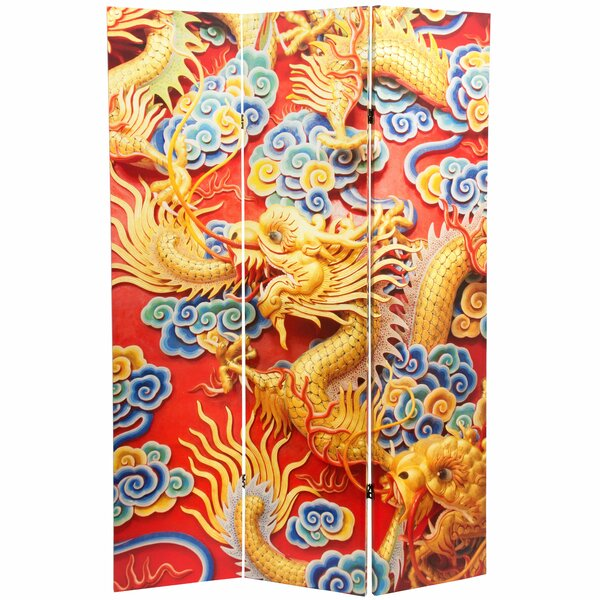 Traditional Chinese Emperor Dragon 3 Panel Room Divider By Oriental Furniture