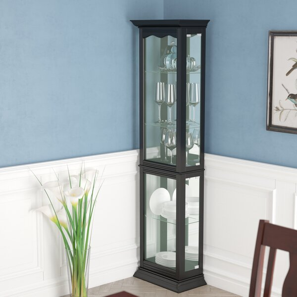 Granville Floor Standing Lighted Curio Cabinet by Charlton Home