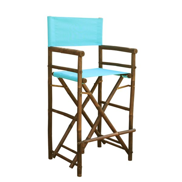 Nadya Bamboo 32 Counter Chair Patio Bar Stool (Set of 2) by Bungalow Rose