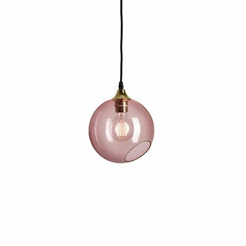 1-Light Globe Pendant Williston Forge Shade Colour: Pink, Si