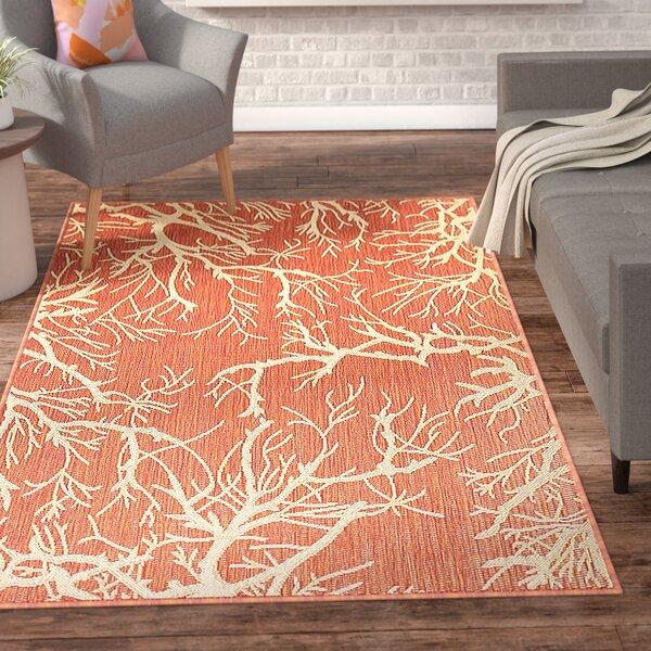 Almaden Terracotta Indoor/Outdoor Area Rug by Ebern Designs