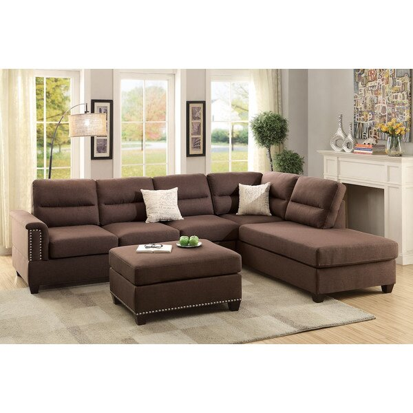 Wardlow Right Hand Facing Sectional With Ottoman By Winston Porter