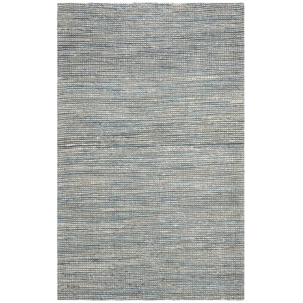 Burner Hand-Woven Blue/Ivory Area Rug by Highland Dunes