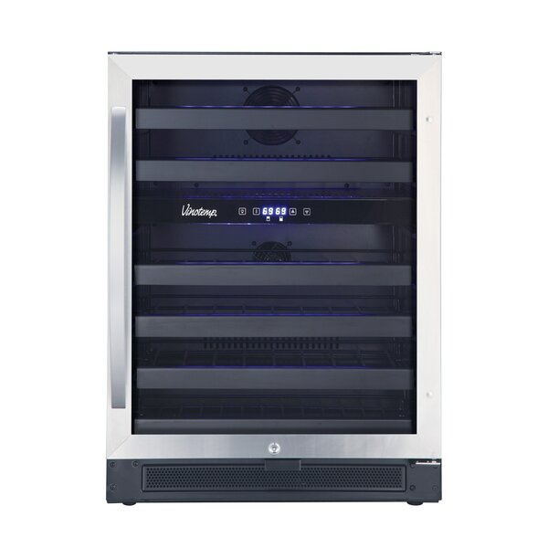 46 Bottle Dual Zone Convertible Wine Cooler by Vinotemp
