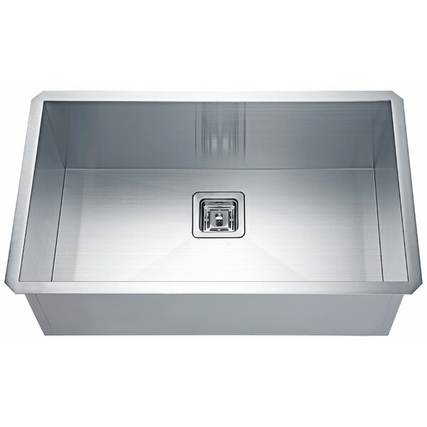 Vanguard Stainless Steel 31 L x 17 W Undermount  Kitchen Sink with Drain Assembly by ANZZI