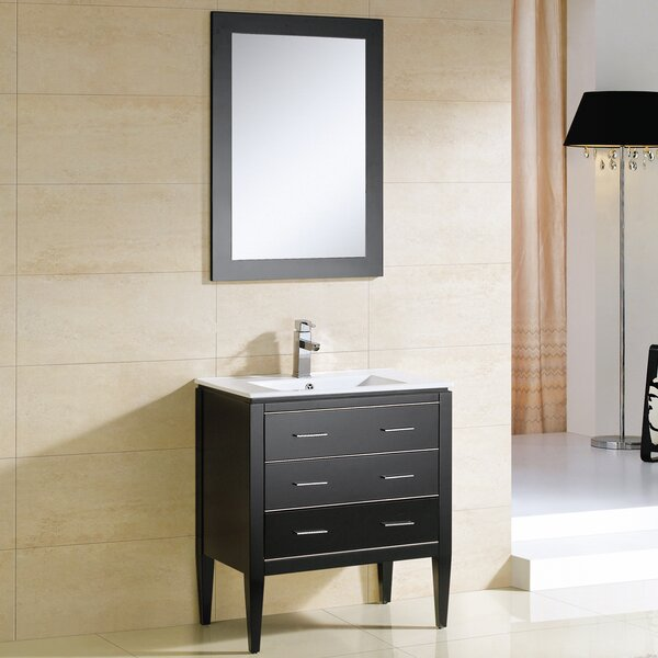 Camile 30 Single Bathroom Vanity Set with Mirror by Adornus