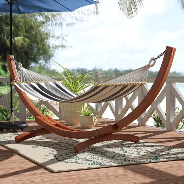 Remmie Wood Arc Hammock Frame By Beachcrest Home